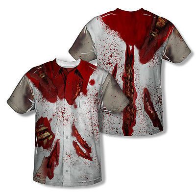 RIPPED ZOMBIE SUBLIMATED MENS AOP FRONT BACK COSTUME T-SHIRT GSA1304FB