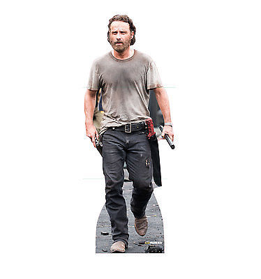 RICK GRIMES ANDREW LINCOLN WALKING DEAD LIFESIZE CARDBOARD STANDUP STANDEE 2086