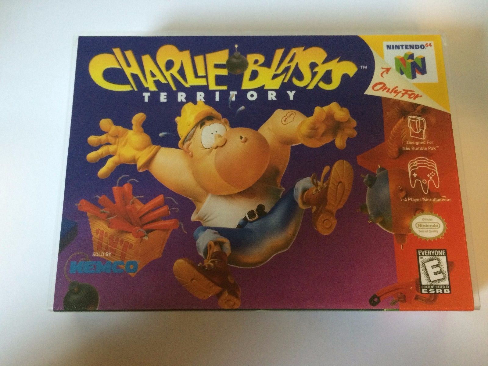 Charlie Blasts Territory - Nintendo 64 - Replacement Case - No Game