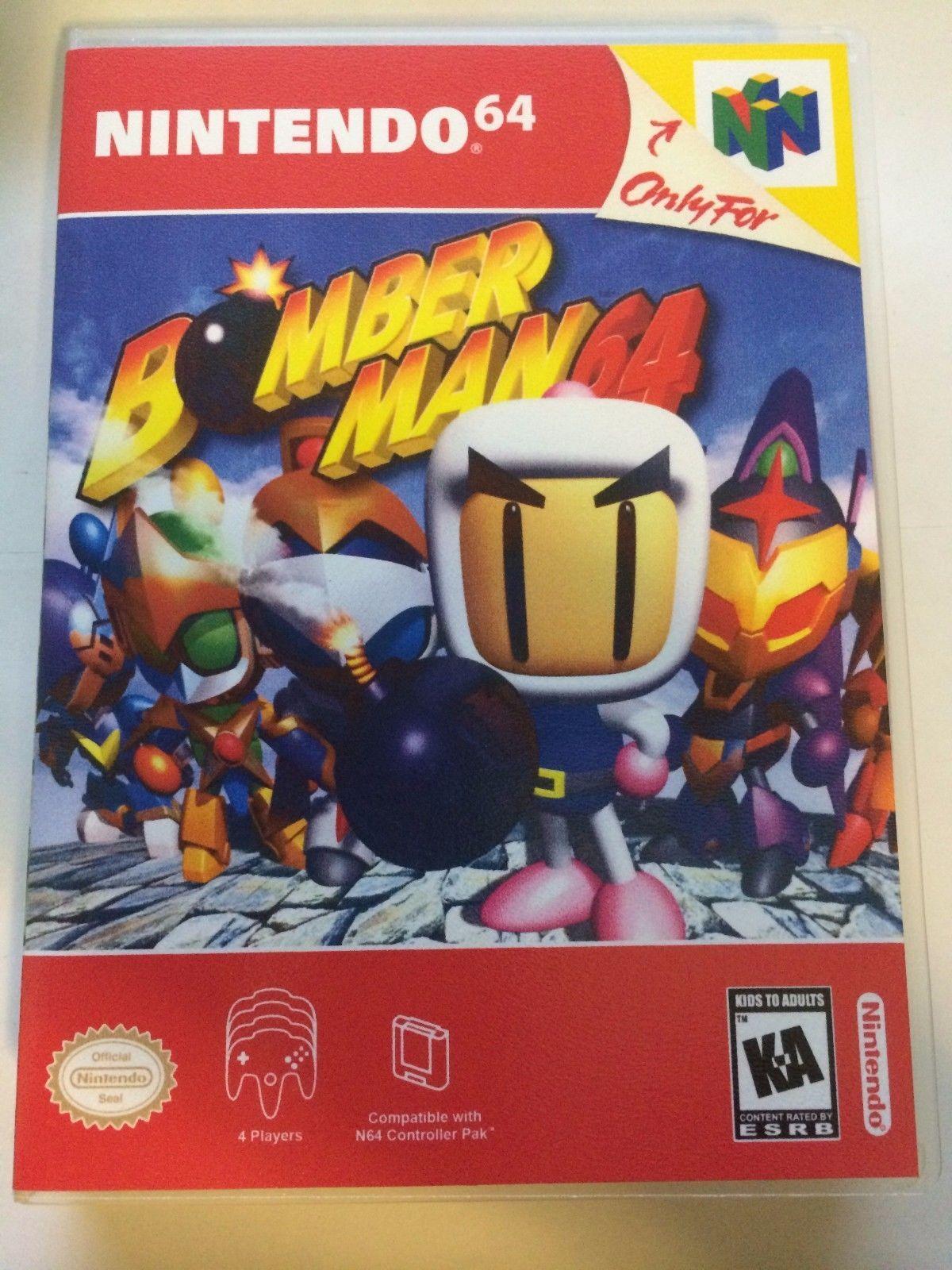 Bomberman 64 - Nintendo 64 - Replacement Case - No Game