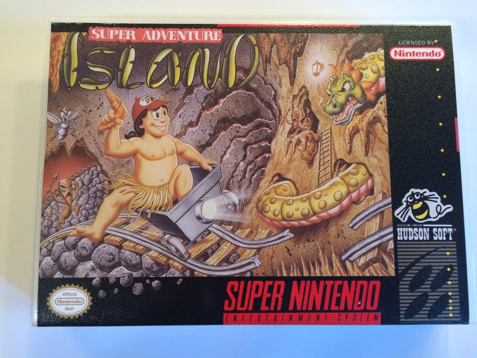 Super Adventure Island - Super Nintendo - Replacement Case - No Game