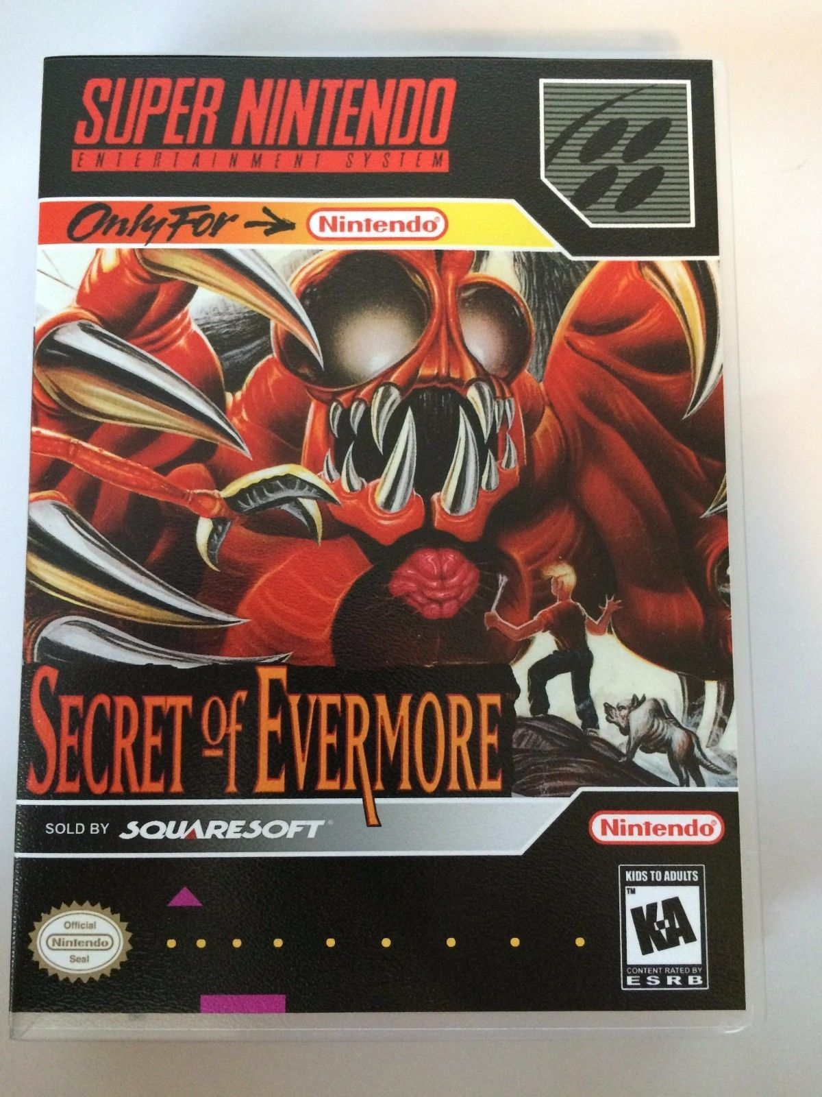 Secret of Evermore - Super Nintendo - Replacement Case - No Game