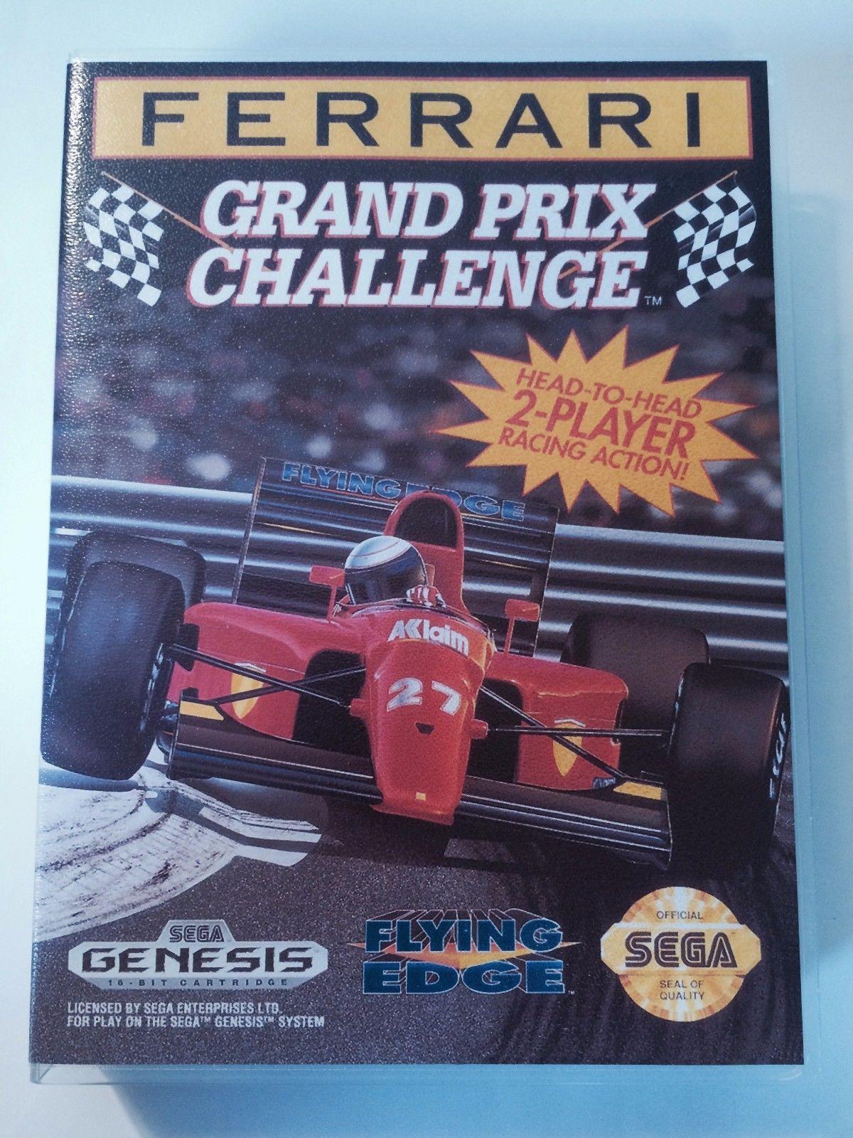 Ferrari Grand Prix Challenge - Sega Genesis - Replacement Case - No Game