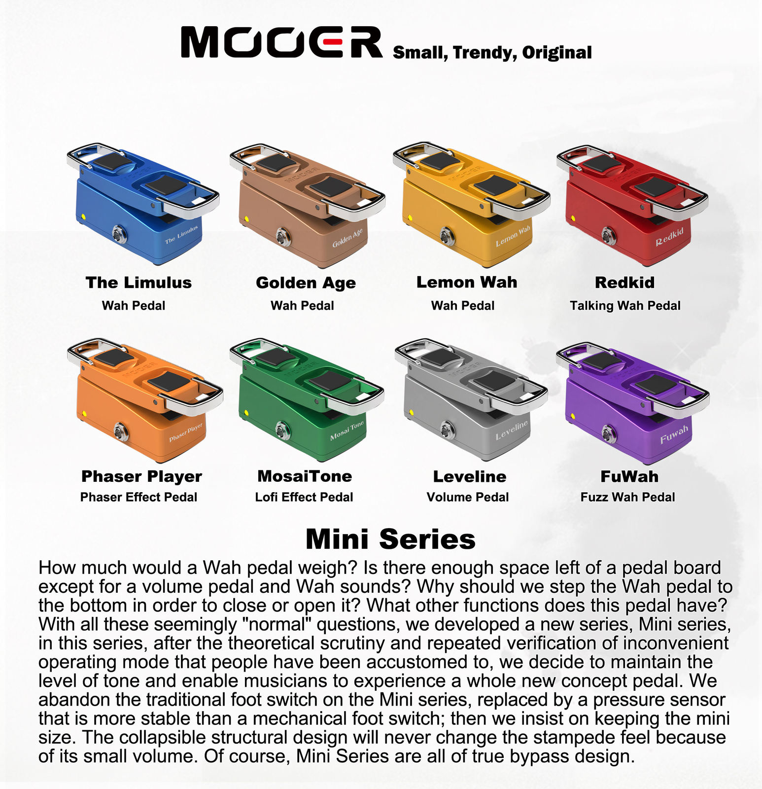 Mooer MMW Micro Series Compact 'The Wahter' Mini Wah Wah Guitar Effects Pedal