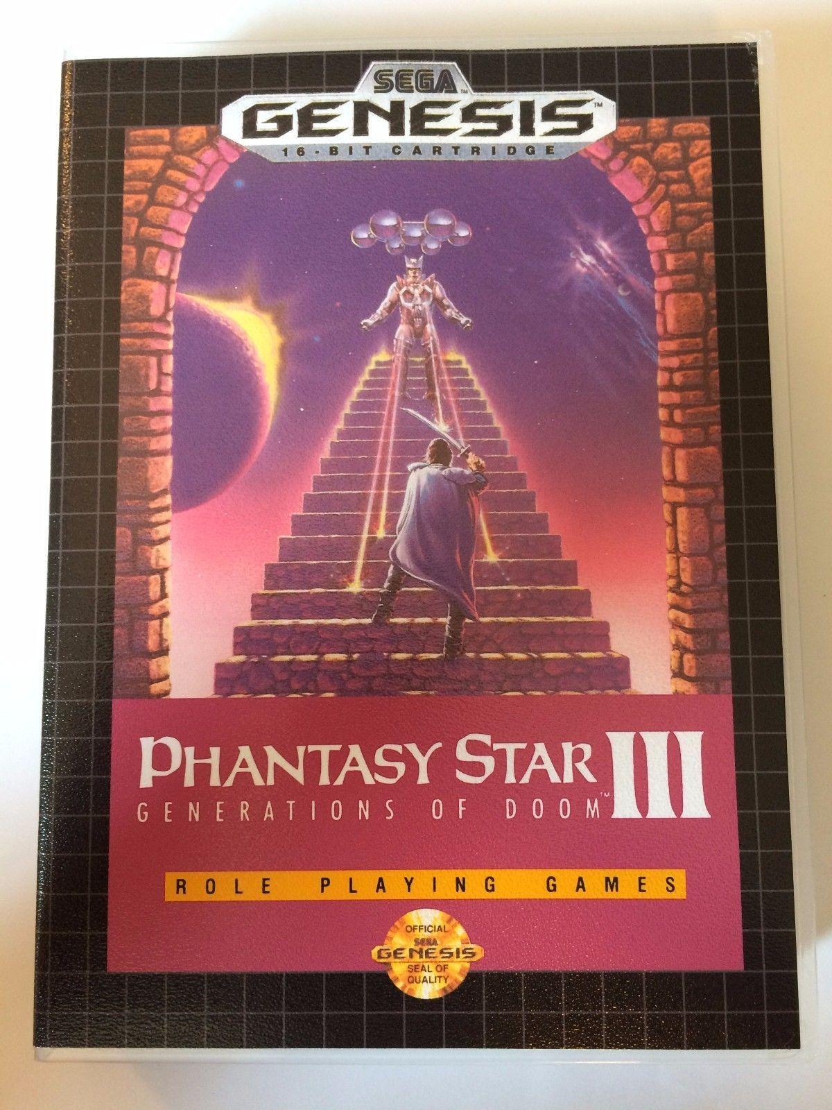 Phantasy Star III - Sega Genesis - Replacement Case - No Game