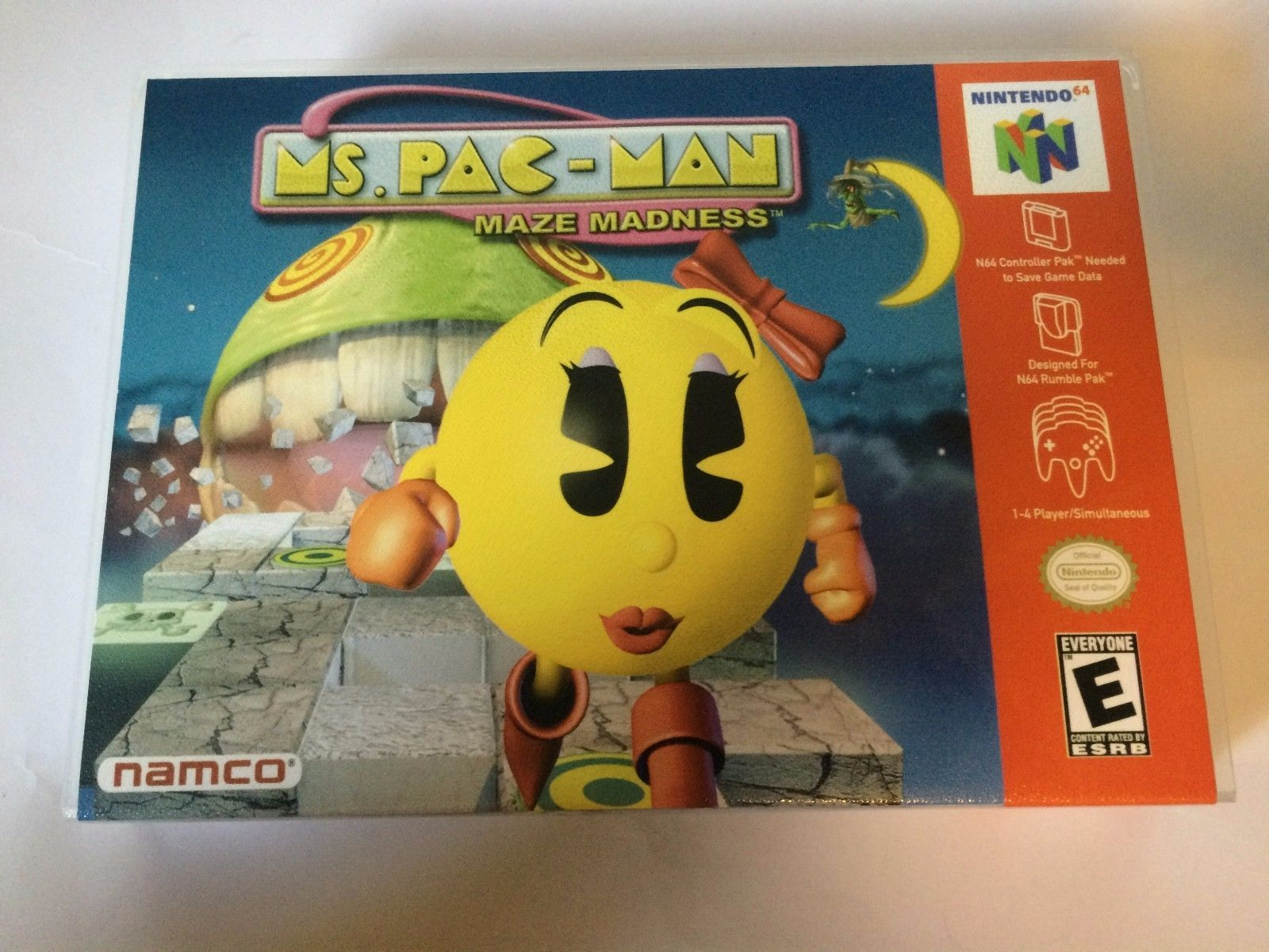 Ms. Pac Man Maze Madness - Nintendo 64 - Replacement Case - No Game