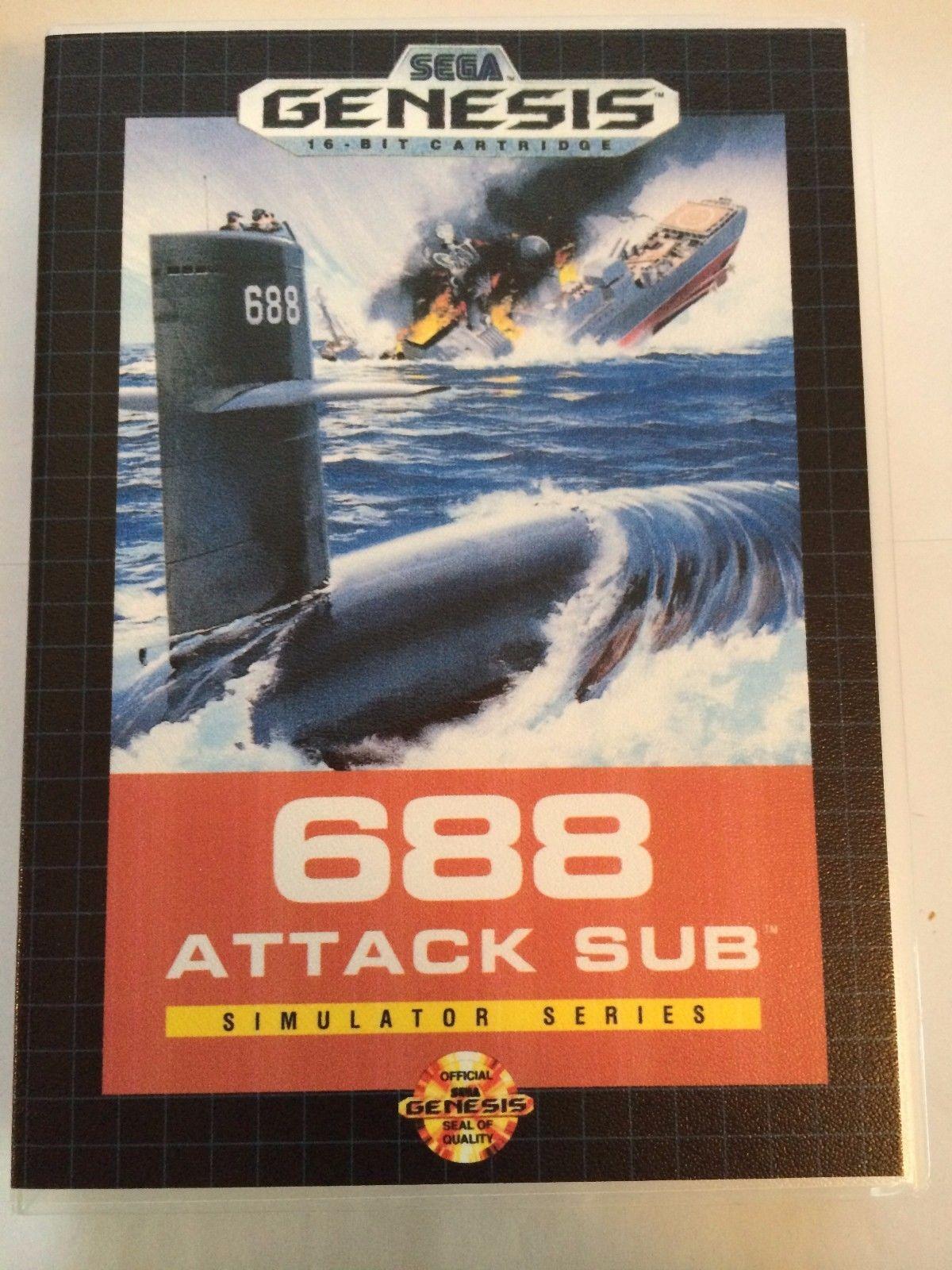 688 Attack Sub - Sega Genesis - Replacement Case - No Game
