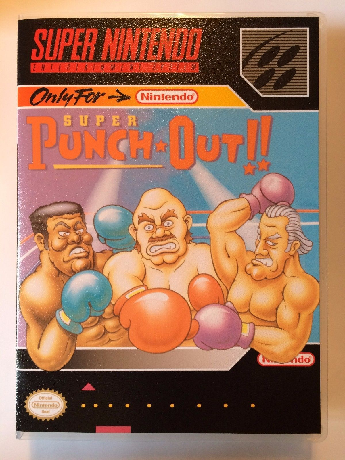 Super Punch Out - Super Nintendo - Replacement Case - No Game