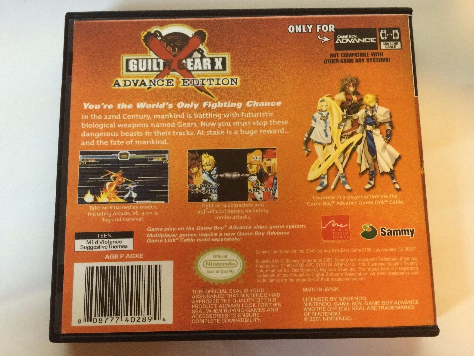 Guilty Gear X Advance Edition - GBA - Replacement Case - No Game