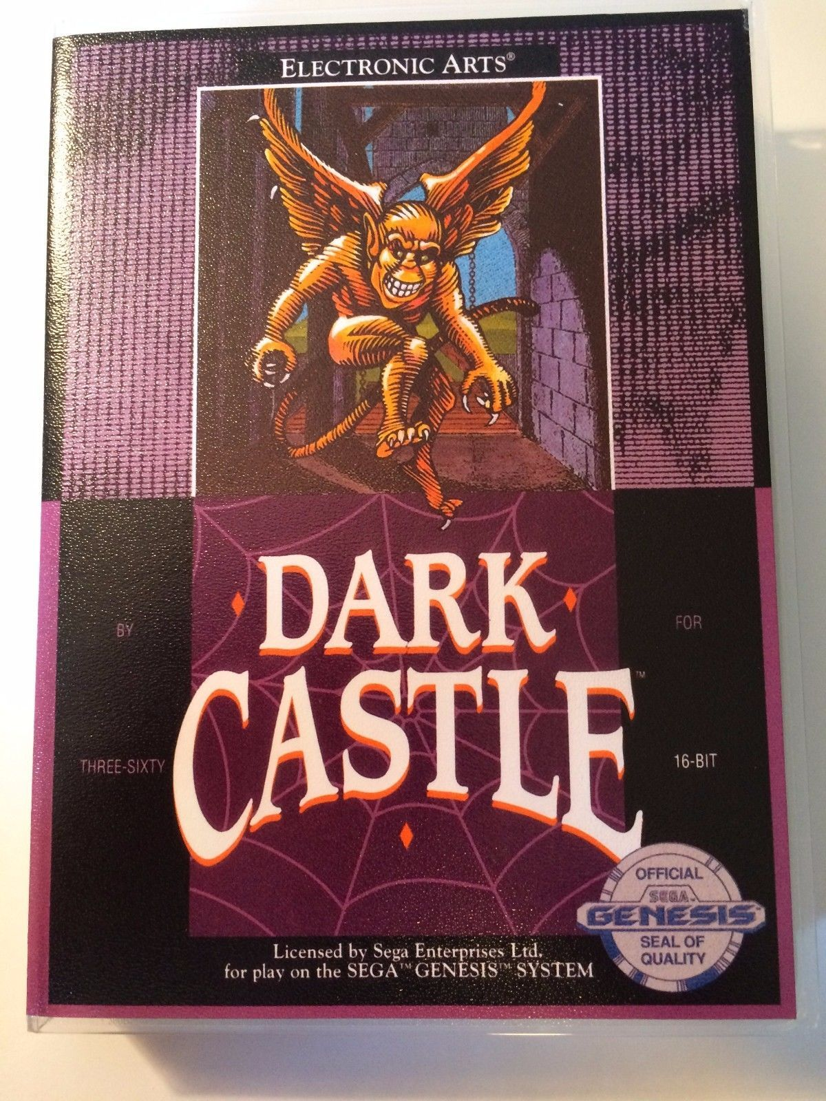 Dark Castle - Sega Genesis - Replacement Case - No Game