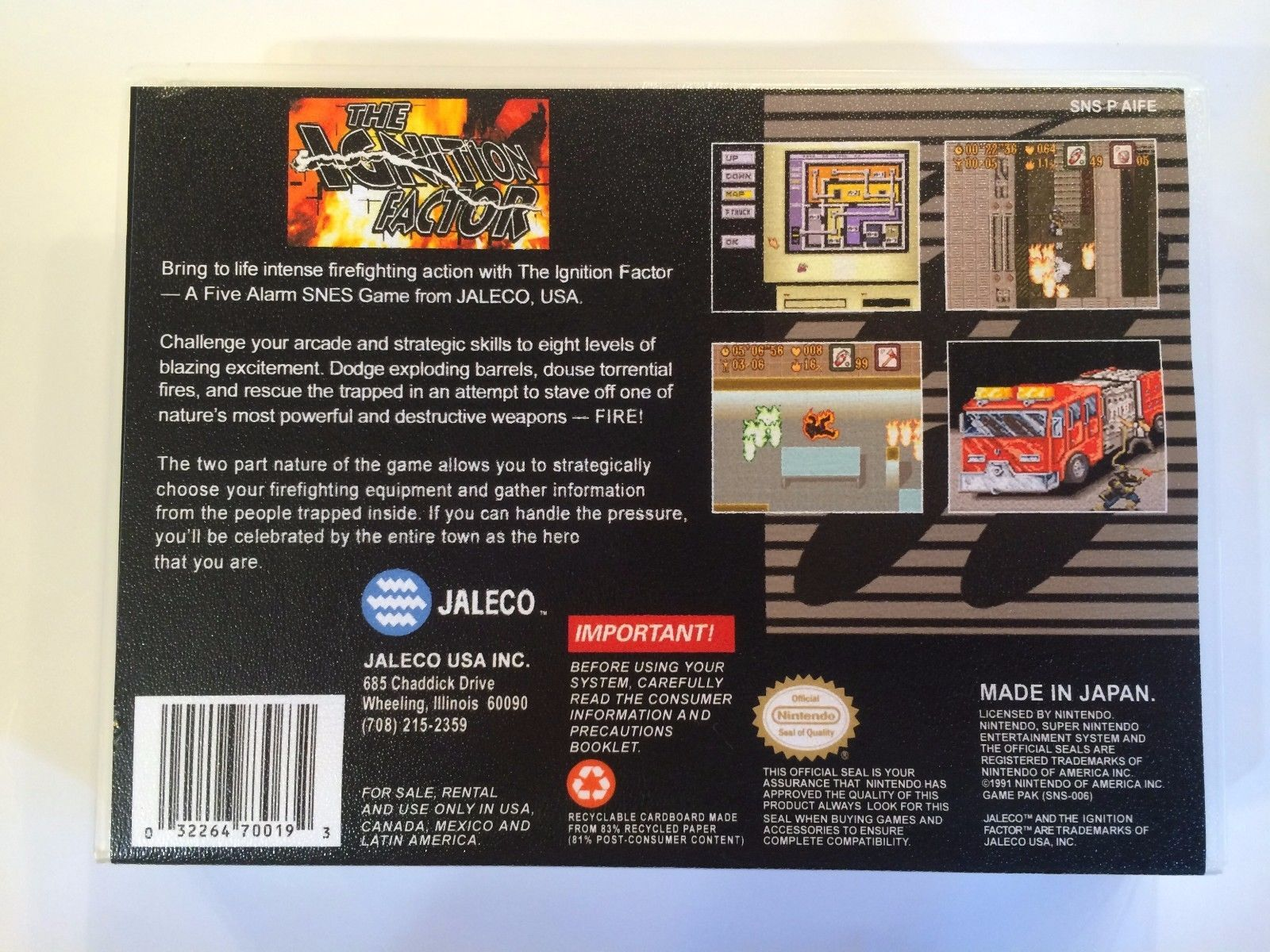The Ignition Factor - Super Nintendo - Replacement Case - No Game
