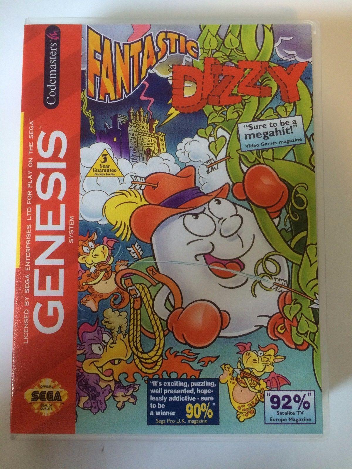 Fantastic Dizzy - Sega Genesis - Replacement Case - No Game