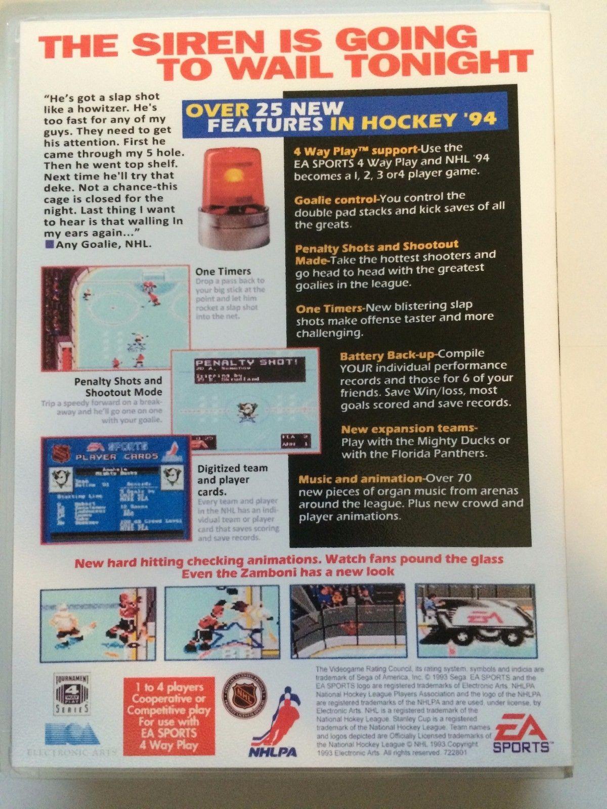 NHL '94 - Sega Genesis - Replacement Case - No Game