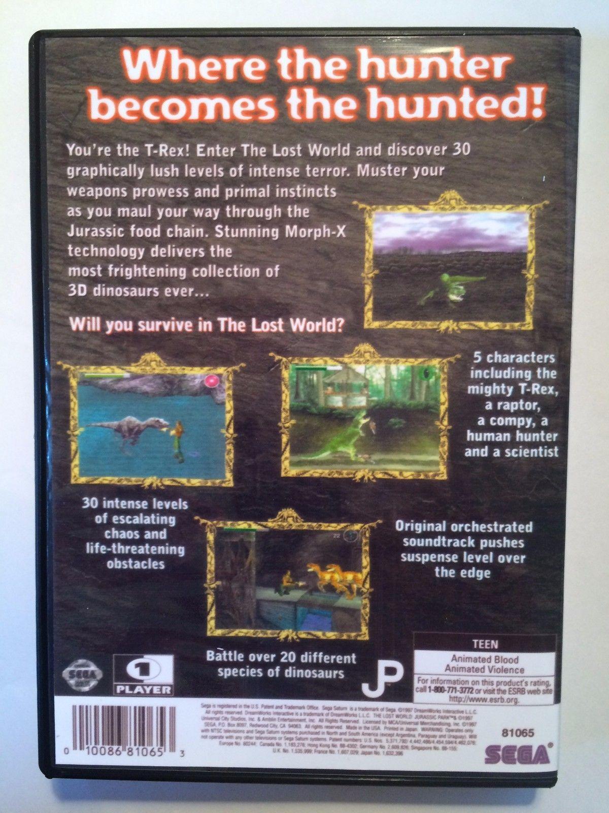 The Lost World Jurassic Park - Sega Saturn - Replacement Case - No Game