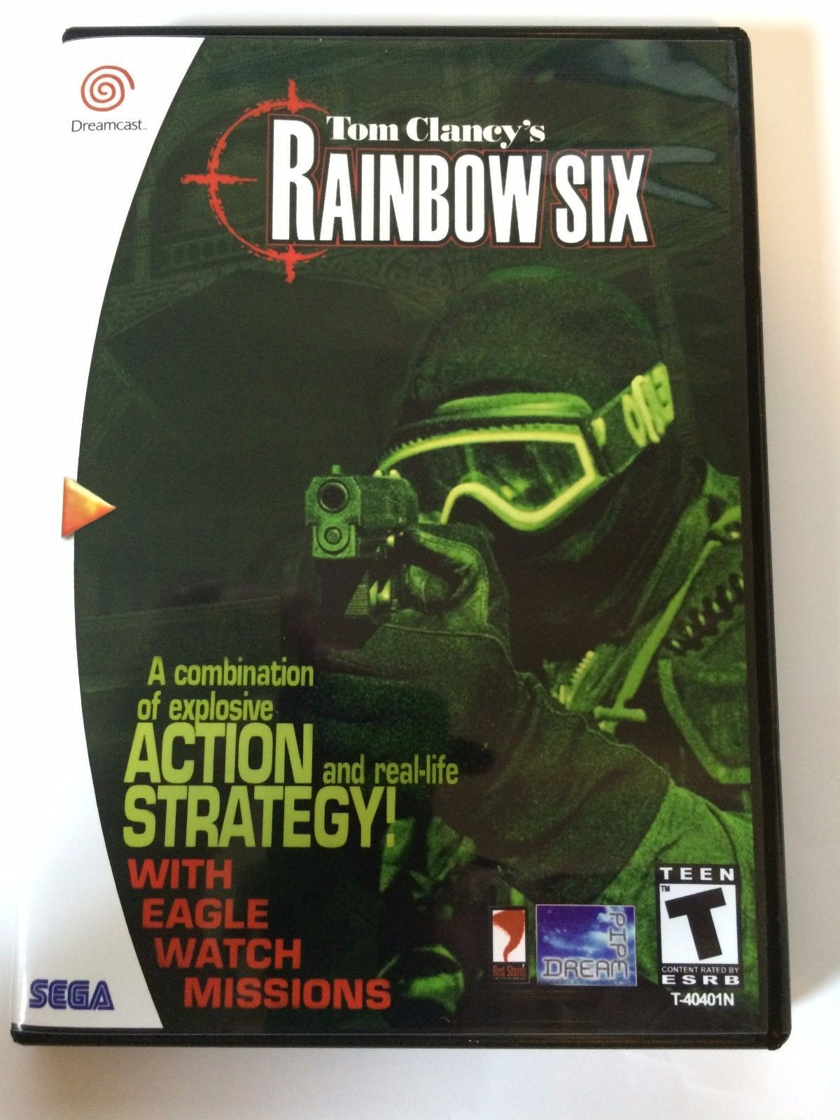 Rainbow Six - Sega Dreamcast - Replacement Case - No Game
