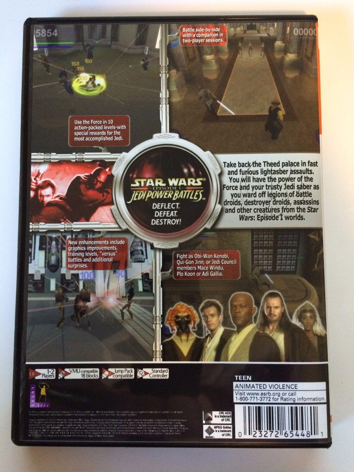 Star Wars Jedi Power Battles - Sega Dreamcast - Replacement Case - No Game