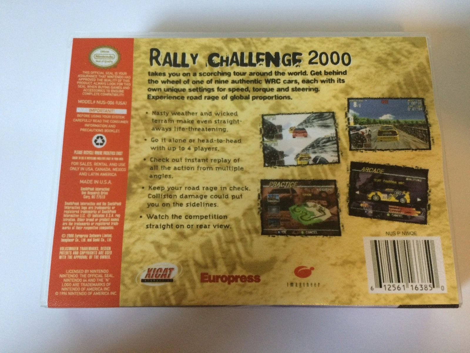 Rally Challenge 2000 - Nintendo 64 - Replacement Case - No Game