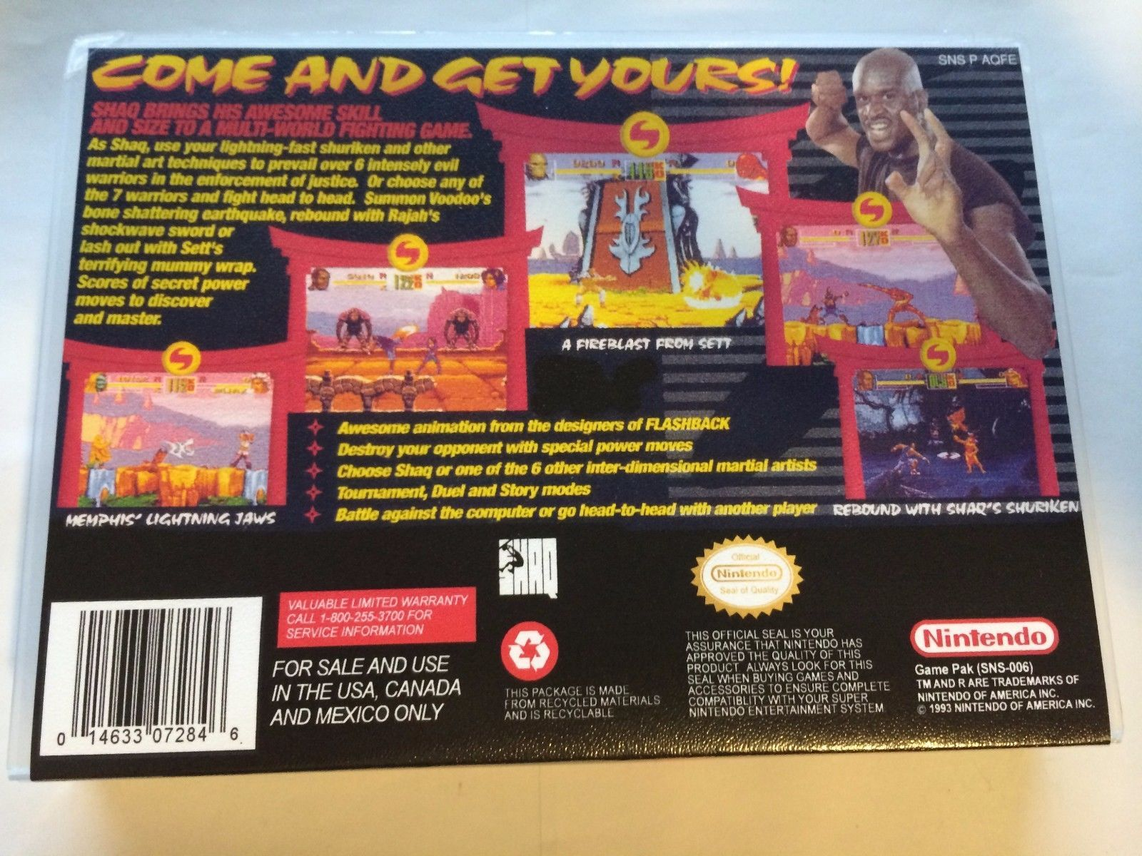 Shaq Fu - Super Nintendo - Replacement Case - No Game