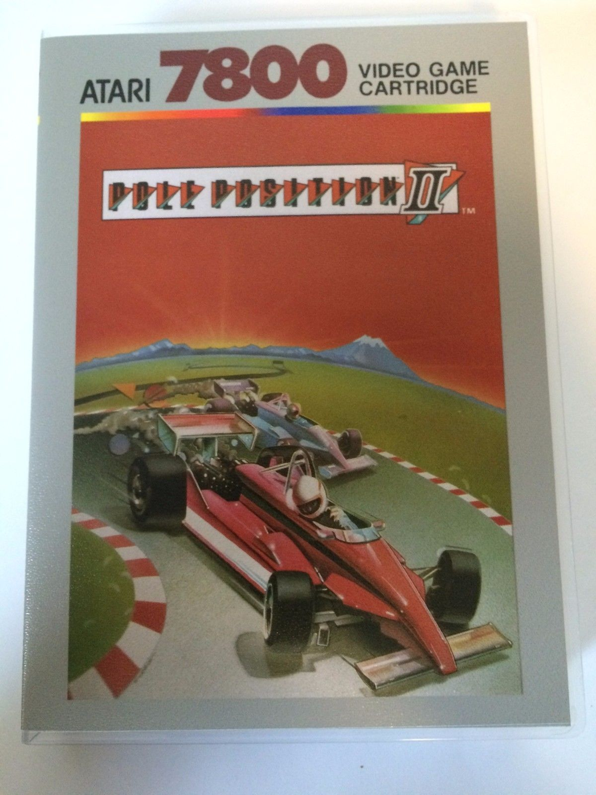 Pole Position II - Atari 7800 - Replacement Case - No Game