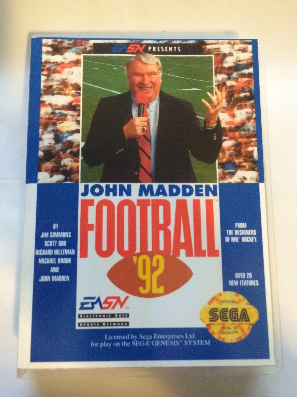 John Madden Football '92 - Sega Genesis - Replacement Case - No Game