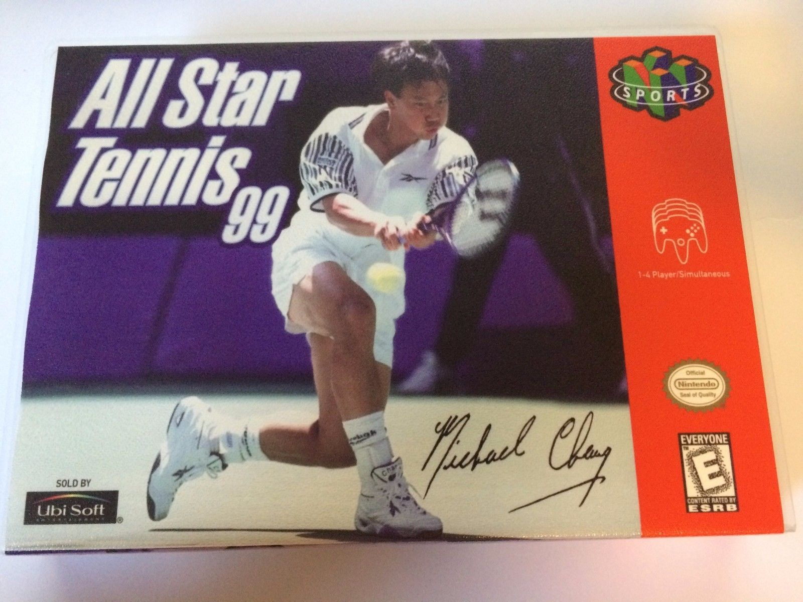 All Star Tennis '99 - Nintendo 64 - Replacement Case - No Game