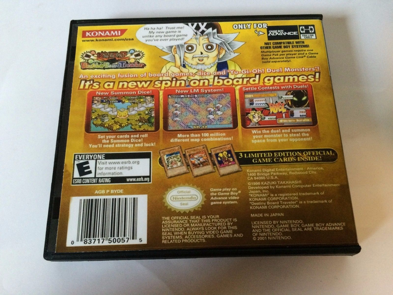 Yu Gi Oh Destiny Board Traveler - GBA - Replacement Case - No Game