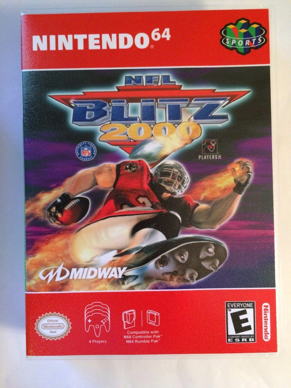 NFL Blitz 2000 - Nintendo 64 - Replacement Case - No Game