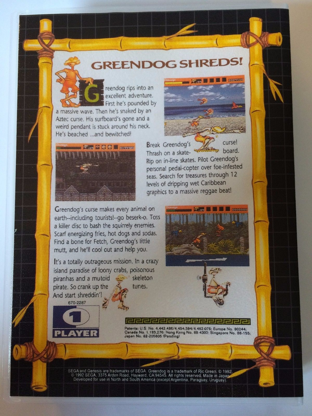 Greendog The Beached Surfer Dude - Sega Genesis - Replacement Case - No Game