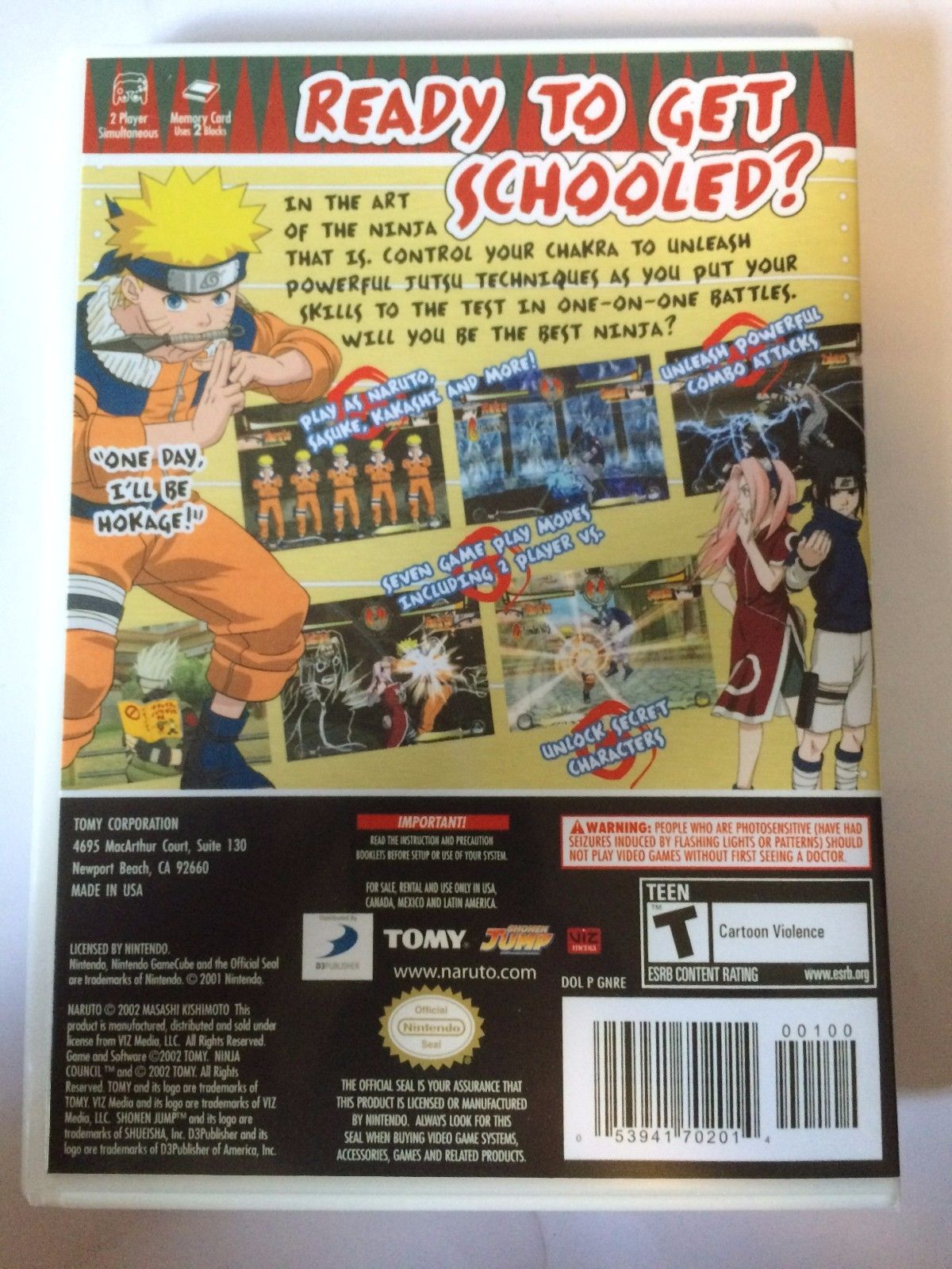 Naruto Clash of the Ninja - Gamecube - Replacement Case - No Game