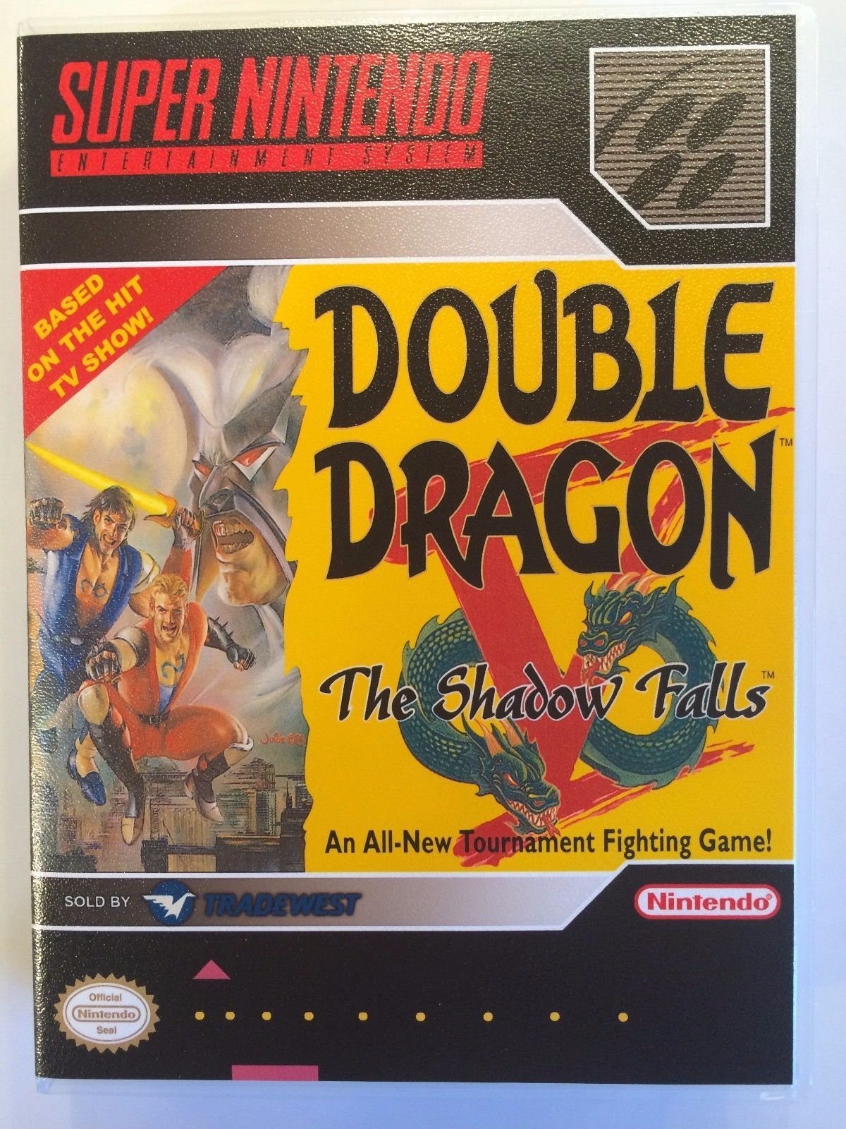 Double Dragon V The Shadow Falls - Super Nintendo - Replacement Case - No Game