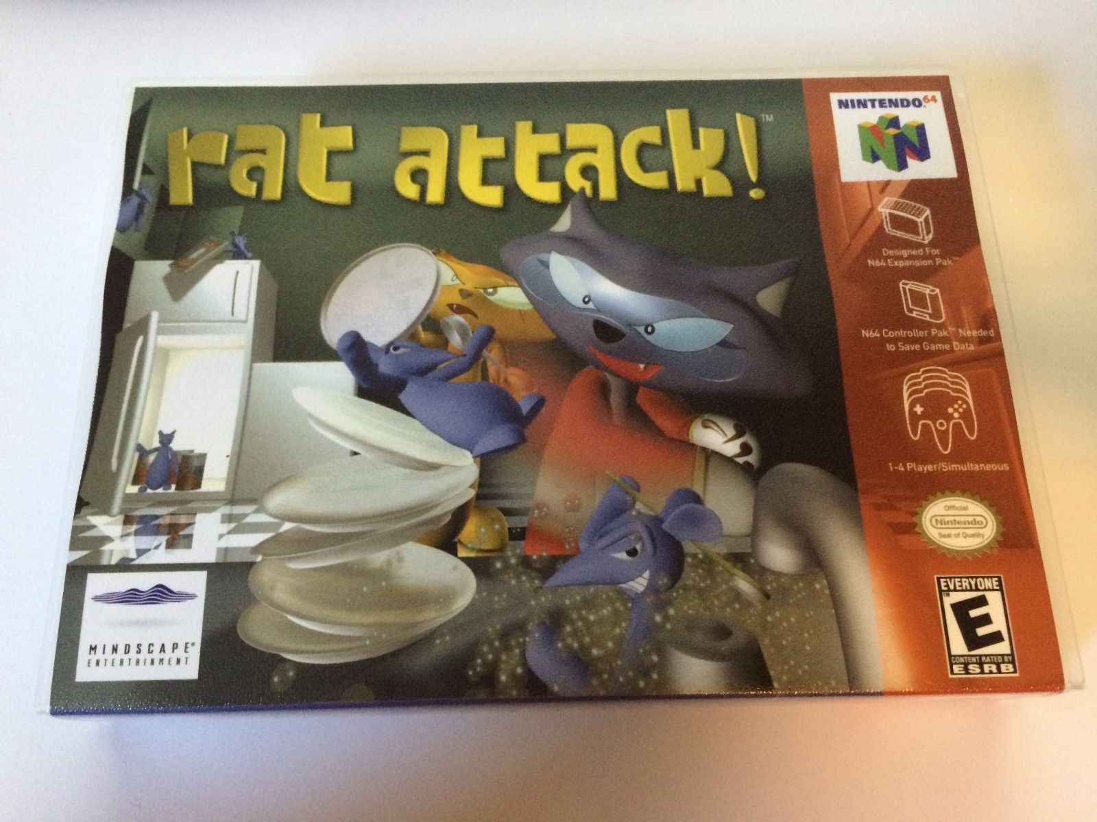 Rat Attack - Nintendo 64 - Replacement Case - No Game