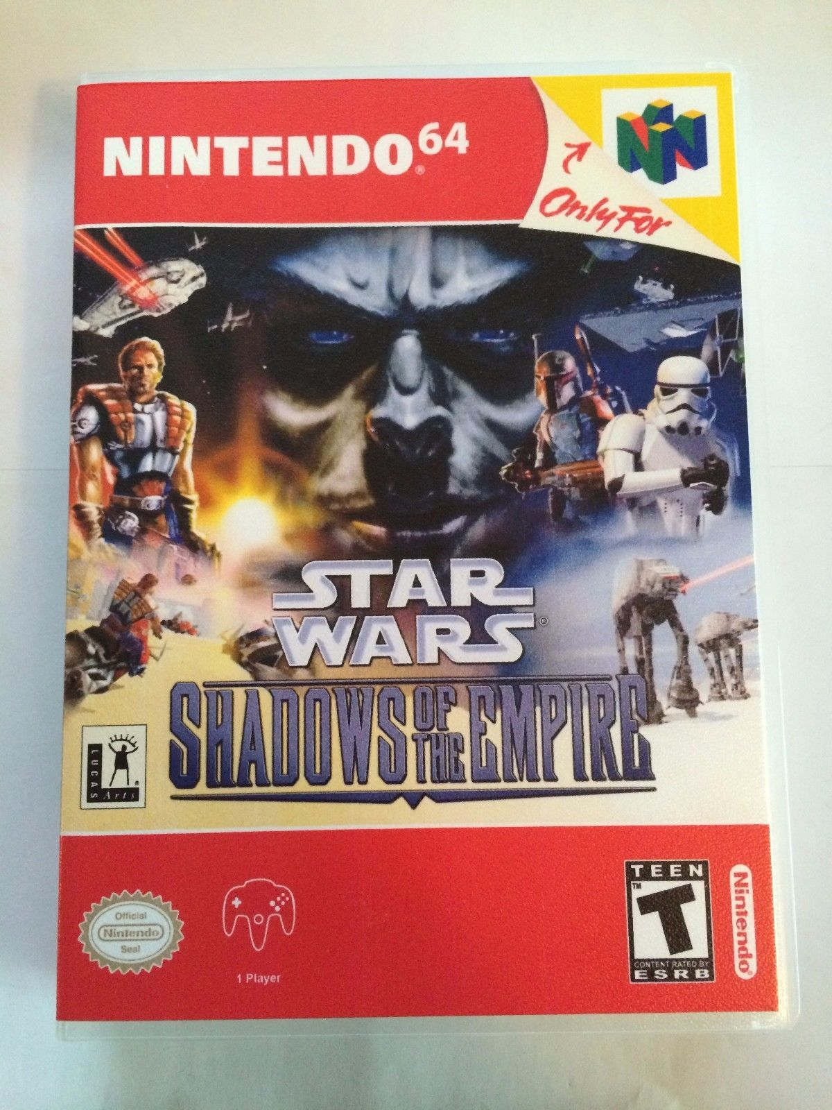 Star Wars Shadows of the Empire - Nintendo 64 - Replacement Case - No Game
