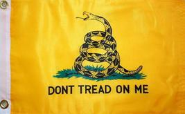 DON'T tread on Me Gadsden Yellow 2 X 3 FT FLAG W/LAPEL PIN AND BUMPER ST... - $5.10