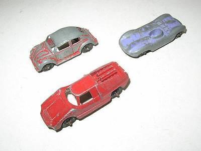 Vintage, 3-pc Tootsie Toy Automobiles- No. 2, Fiat, etc.