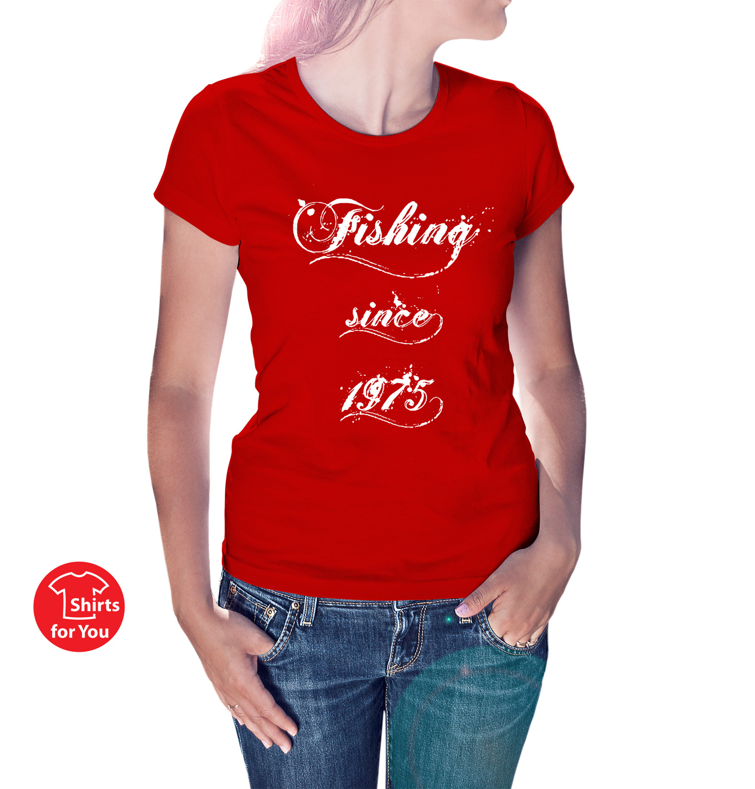 Fishing since custom year birthday t shirt women 39 s t for Fishing tank top