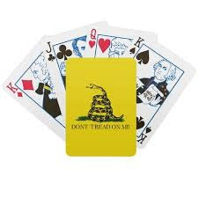 NEW DONT TREAD ON ME 54 CARD DECK OF PLAYING CARDS UNOPENED