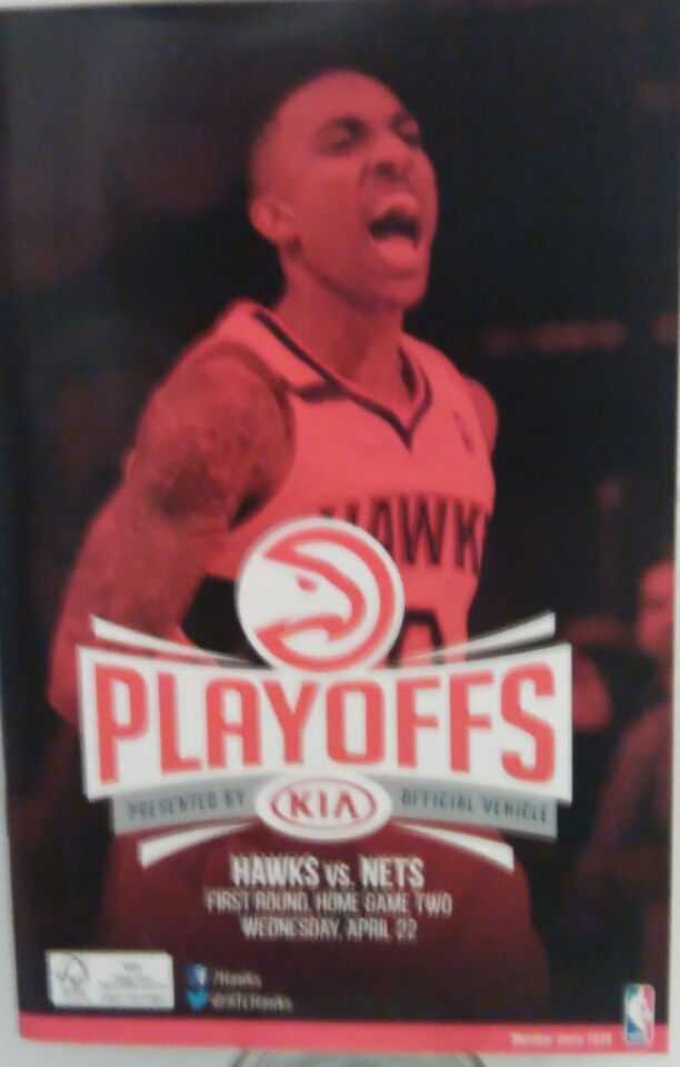 Hawks vs. Nets Playoffs Official Program Book [April 22, 2015]