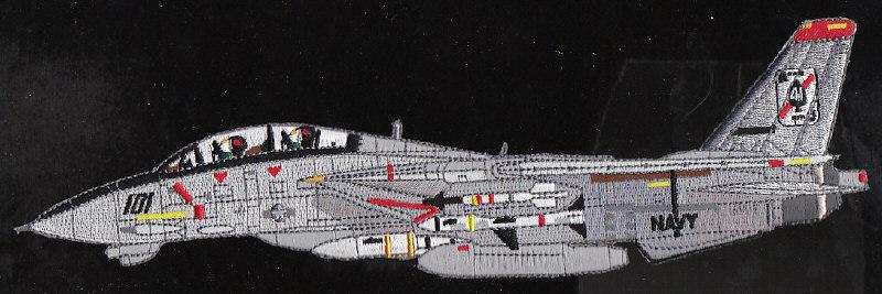 Vf 41 black aces navy squadron f 14 tomcat patch