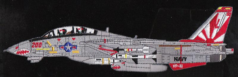 Vf 111 sundowneers navy squadron f 14 tomcat patch