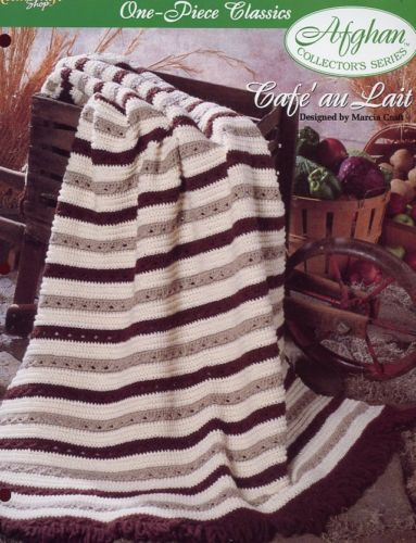 Cafe au Lait One-Piece Afghan TNS Crochet Pattern/Instructions Leaflet NEW