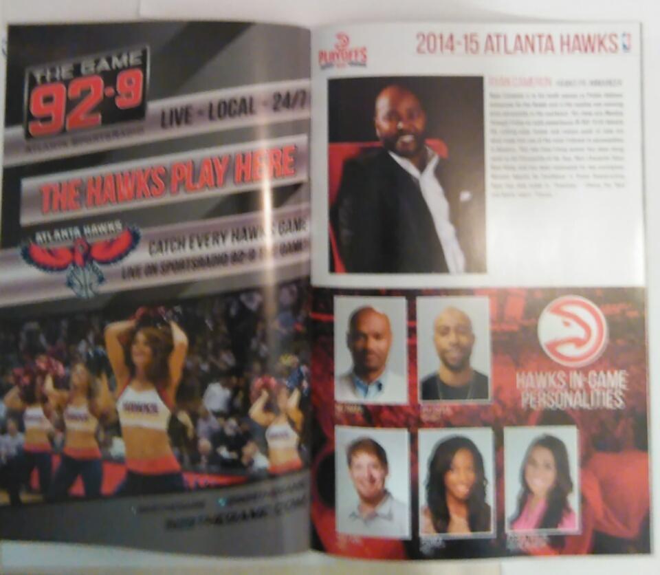 Hawks vs. Nets Playoffs Official Program Book [April 29, 2015]
