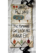 Light My Candle needlebook halloween cross stitch chart Death by Thread  - $12.00