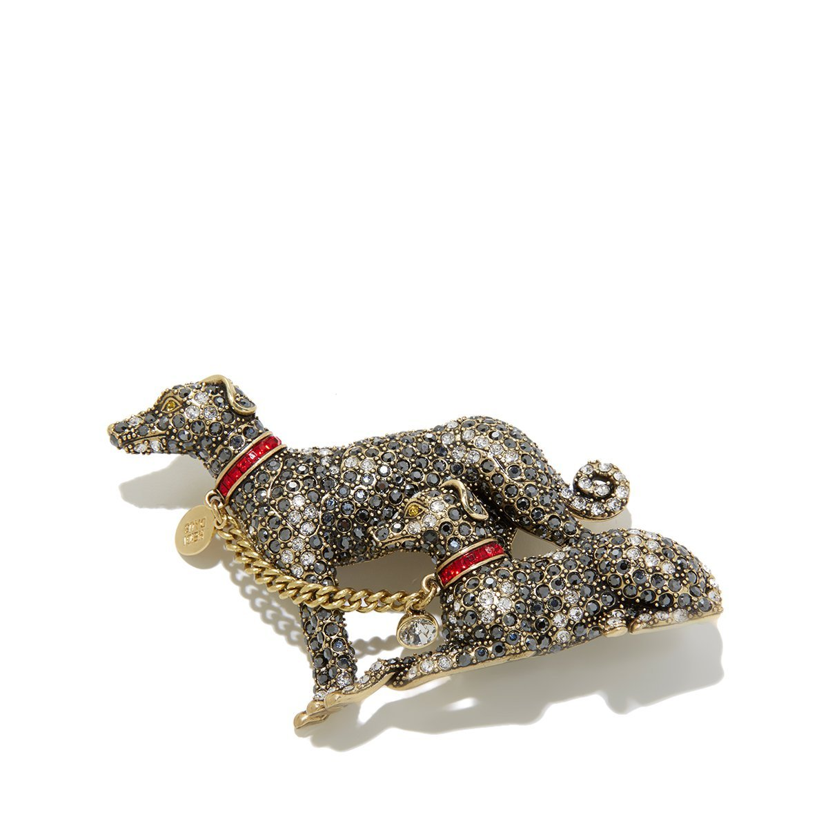 Heidi Daus Handsome Hounds Crystal Pin Brooch