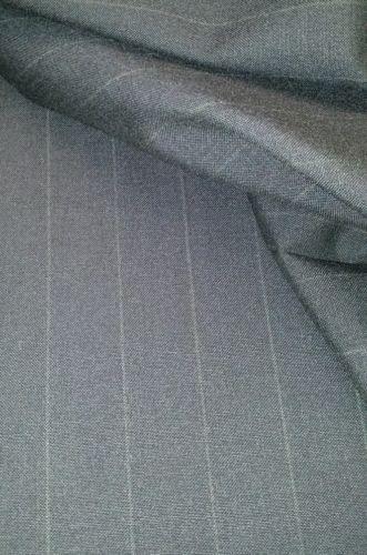 130'S Italian Wool suit fabric   Navy Blue Pin Stripe   5 Yards Free Shipping