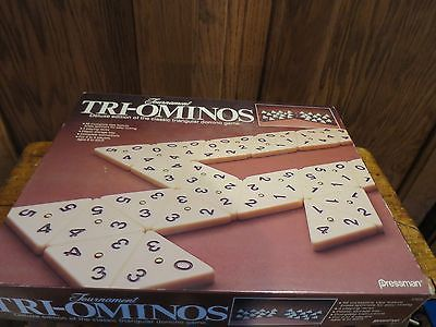 Tournament Tri-Ominos Deluxe Esition 1986 by Pressman 7023
