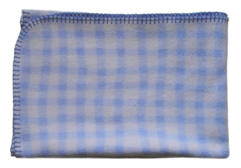 Circo Baby Boys Blue and White Checked Receiving Blanket