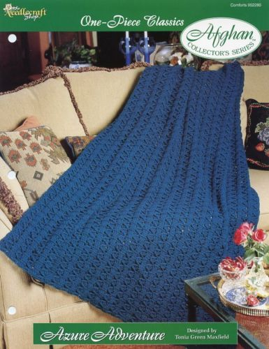 Azure Adventure One-Piece Afghan TNS Crochet Pattern - 30 Days to Pay!