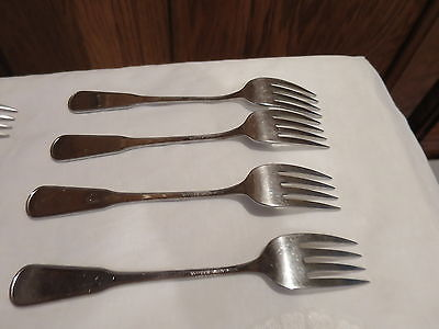 Oneida Deluxe Stainless Village Salad Forks Lot of 8