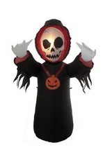 NEW Halloween Inflatable Grim Reaper Skeleton Skull Face - Yard/Lawn Dec... - $1.025,13 MXN