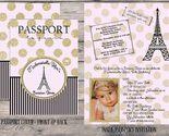 Gold glitter paris passport invite thumb155 crop
